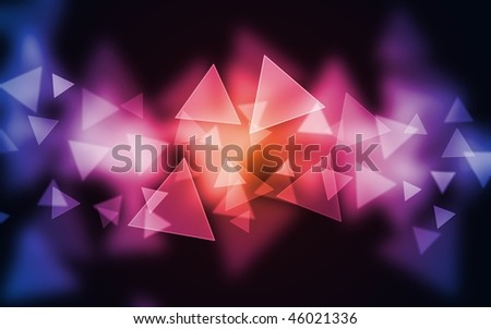 Multicolor vibrant triangle bokehs on beautiful background. Good for holiday and design use. - stock photo