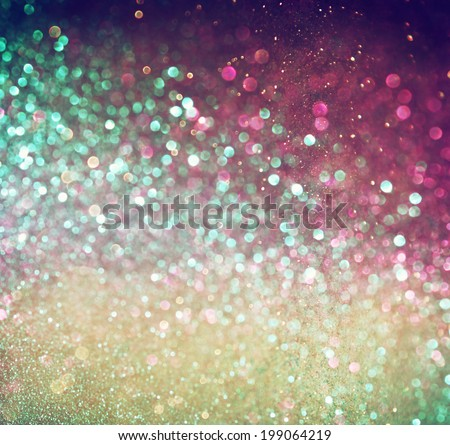 multicolor vintage style bokeh lights. defocused abstract background. - stock photo