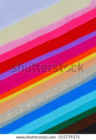 Multicolor wool felt cloth sheets - stock photo