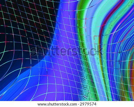 multicolored abstract wavy background with grid