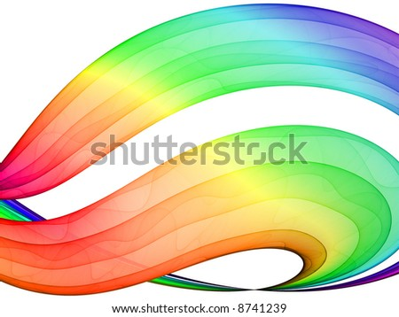 multicolored abstraction - high quality rendered design element - stock photo