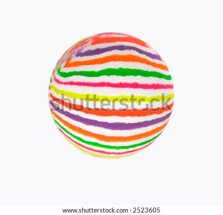 Multicolored ball isolated - stock photo