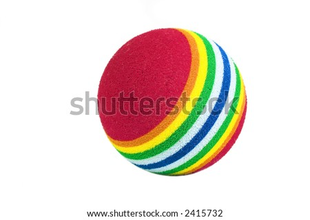 Multicolored ball isolated against a white background.