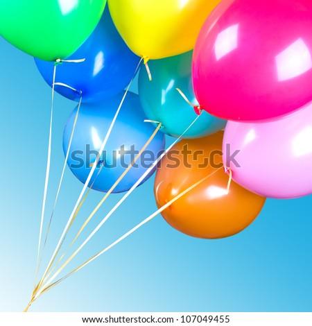 multicolored balloons - stock photo