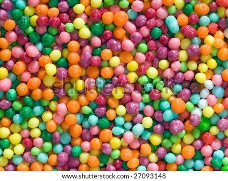 Multicolored balls background. - stock photo