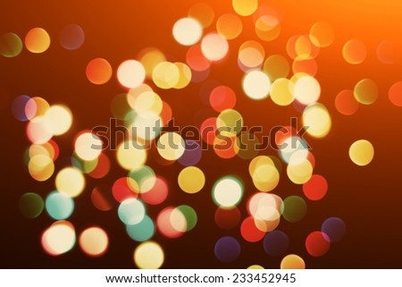 multicolored blurred christmas lights. colorful background bokeh. vintage greeting card - stock photo