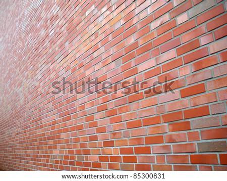 Multicolored brick wall - stock photo