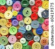 Multicolored buttons for clothing - stock photo