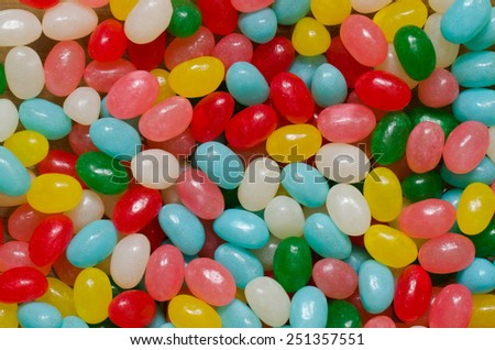 Multicolored candies background