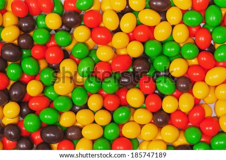 Multicolored candies. Decoration background. Closeup. - stock photo