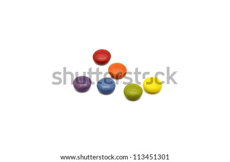 multicolored chocolate candies - stock photo
