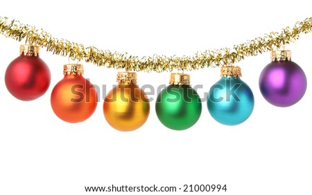 Multicolored Christmas balls - stock photo