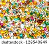 Multicolored crystals background - stock photo