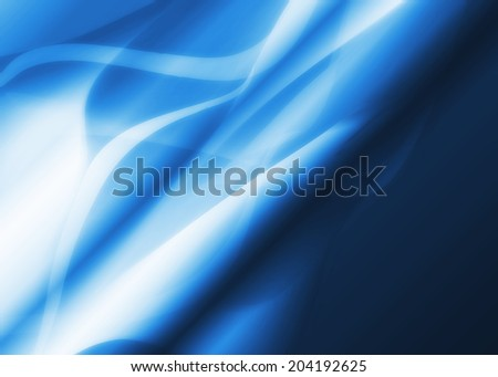 multicolored dark abstract background with waves with metallic shine blue - stock photo