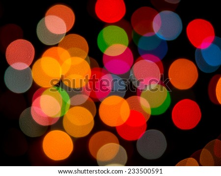 Multicolored defocused bokeh lights at Night for  background or texture of Christmaslight