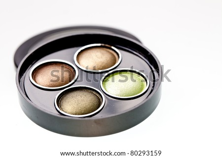 multicolored eye shadows - stock photo