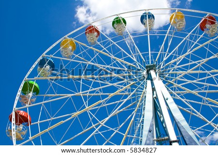 Multicolored Ferris Wheel - stock photo