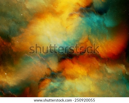 Multicolored fog in deep space, computer generated abstract background