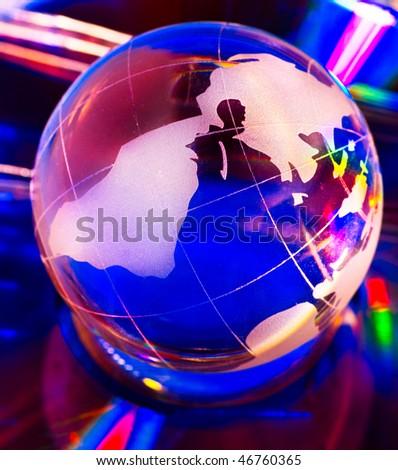Multicolored globe - stock photo