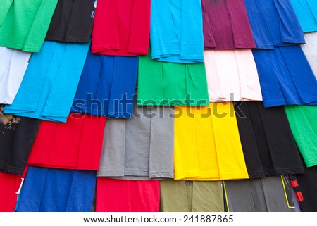 Multicolored indian cloth (canvas).