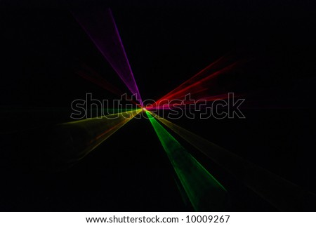 Multicolored Laser Light Show