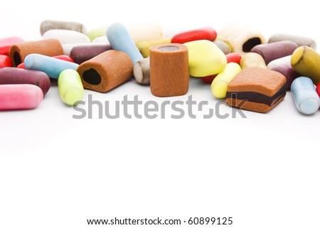 Multicolored Licorice - stock photo