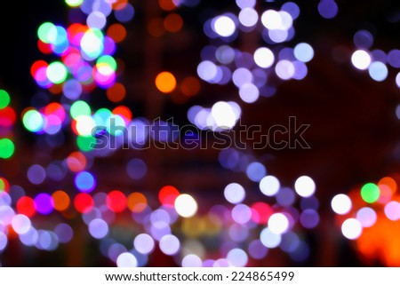 Multicolored lights bokeh background. - stock photo