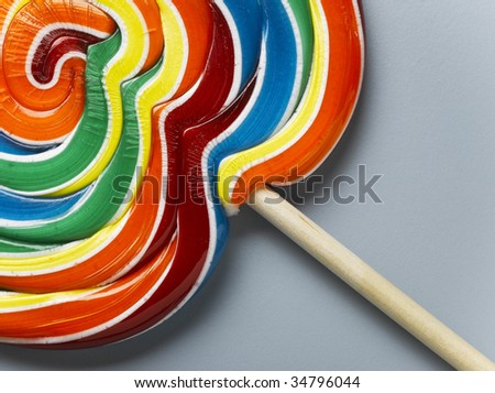 Multicolored lollipop, close-up - stock photo