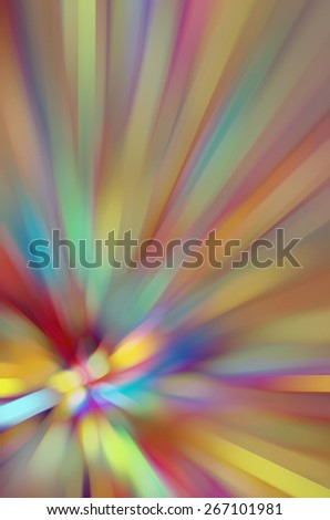 Multicolored naturalistic abstract with the effect of a radially blurred flower, for decoration and background with themes of variety and origin - stock photo