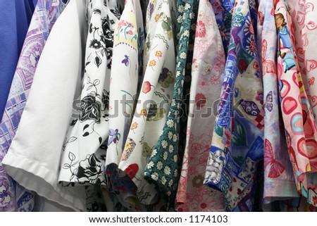 Multicolored Nurse's Uniforms - stock photo