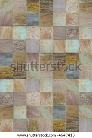 Multicolored patchwork of slate textures - stock photo