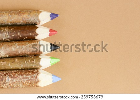 Multicolored pencils for drawing. Multicolored pencils for drawing on background. - stock photo