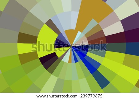 Multicolored radial abstract - stock photo