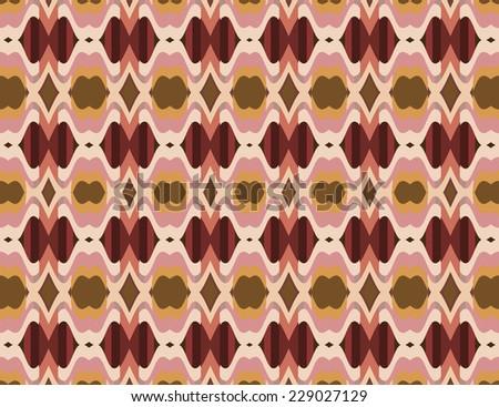 Multicolored retro pattern - stock photo
