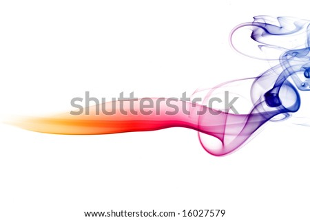 multicolored smoke natural abstract background - stock photo