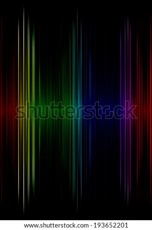 Multicolored sound equalizer as abstract  background.Digitally generated image. - stock photo