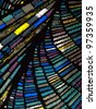 Multicolored stained glass - stock photo