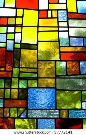 Multicolored stained glass pattern