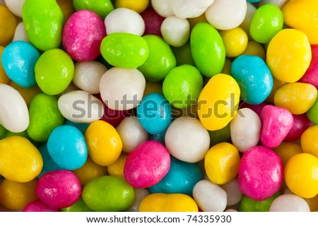 Multicolored sweet sugary candy background - stock photo