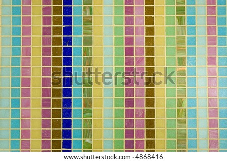 Multicolored tesselated mosaic texture for abstract background
