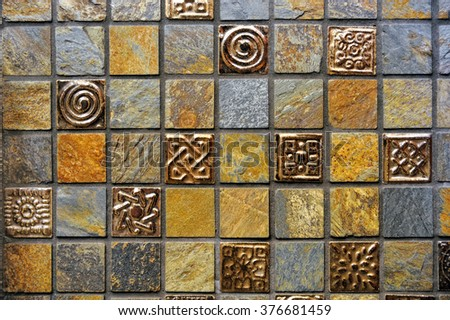 Multicolored tiles - stock photo
