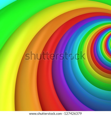 Multicolored twisted background, 3d computer graphic - stock photo