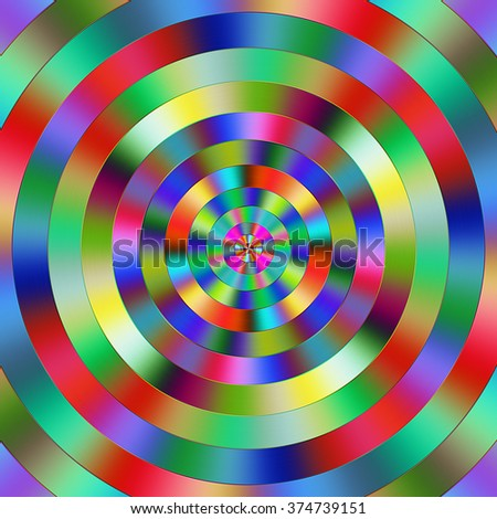 Multicolored vibrant graduated circles. - stock photo