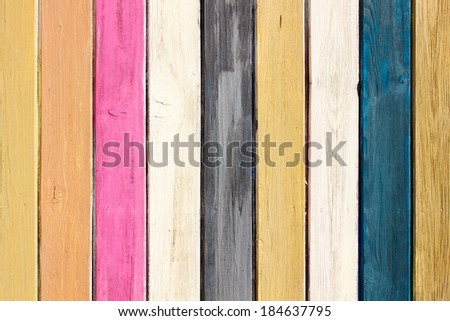 Multicolored wall planks