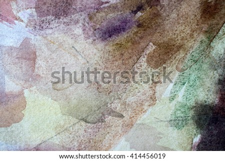 multicolored watercolor painted background texture - stock photo