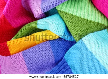 multicolored woolen soft texture - stock photo