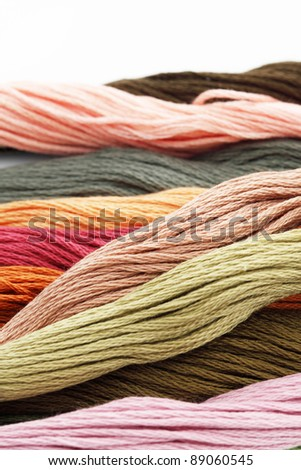 Multicolored yarn - stock photo