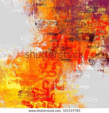 Multicolour composition with faded number - stock photo