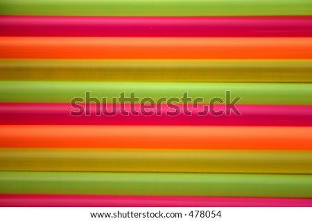Multicoloured Bright Drinking Straws - Soft Focus at 100% - VERY Soft Focus at 100%