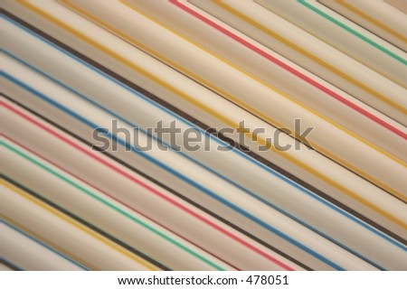 Multicoloured drinking straws  - VERY Soft Focus at 100%